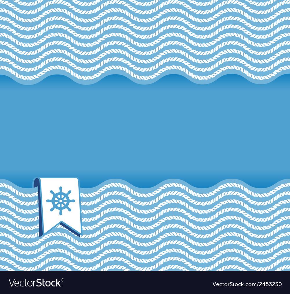Marine background with ropes