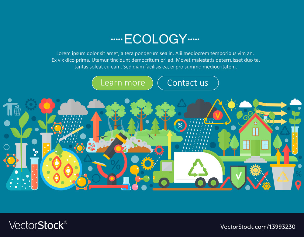 Modern flat infographic ecology concept green