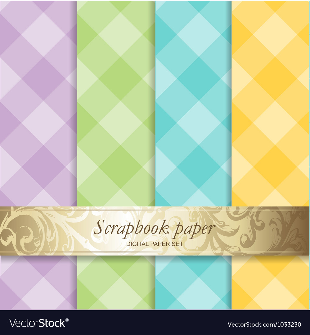 Pattern Scrapbook Paper Royalty Free Vector Image