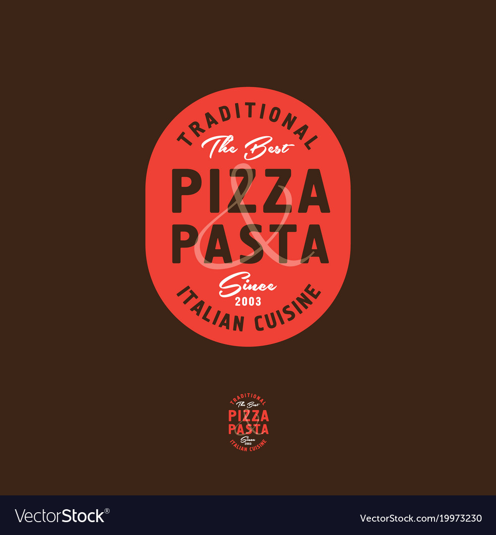 Pizza And Pasta Italian Restaurant Logo Royalty Free Vector