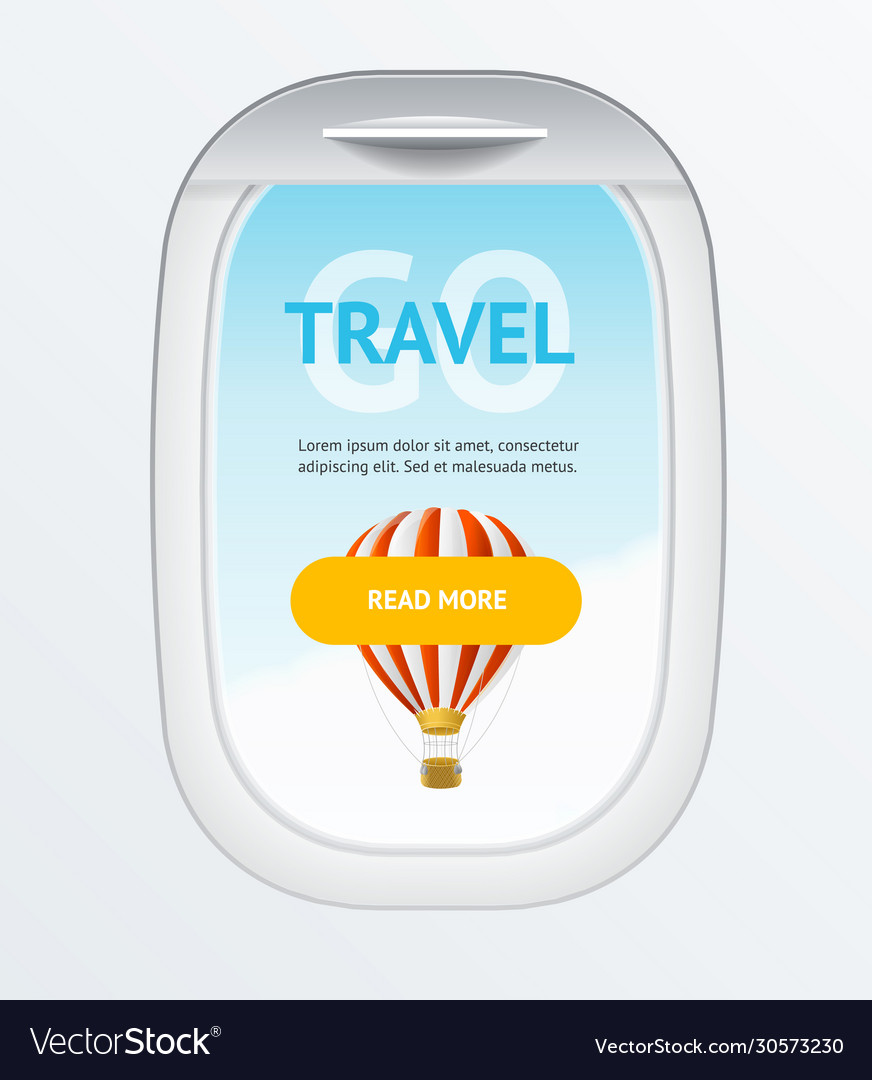 Realistic detailed 3d travel and tourism banner