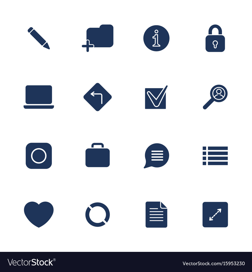 Simple internet icons set universal internet