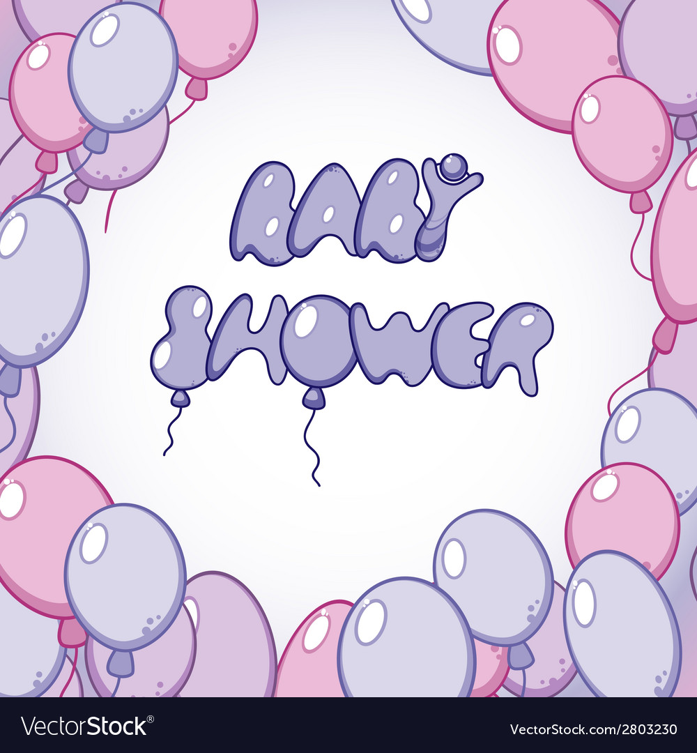 Template for baby shower card