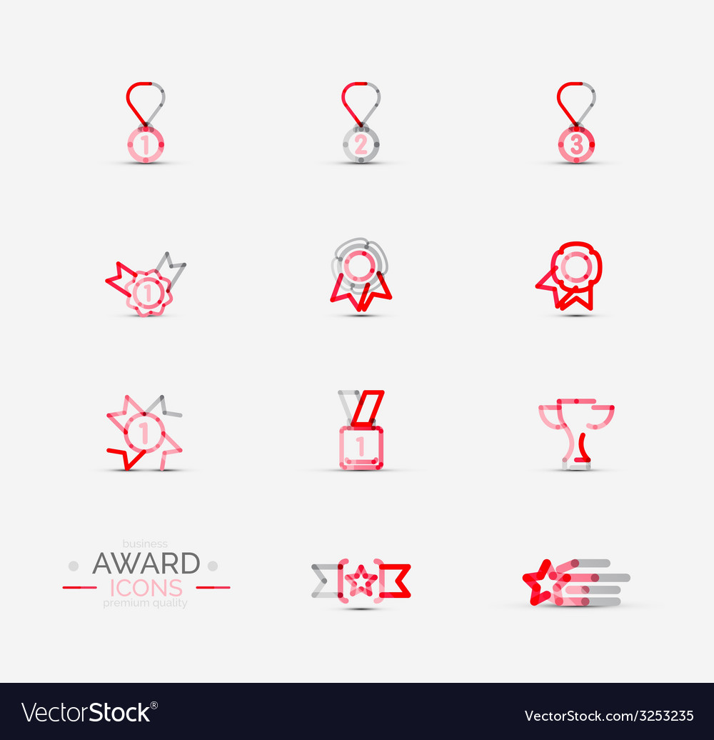 Award icon set Logo collection