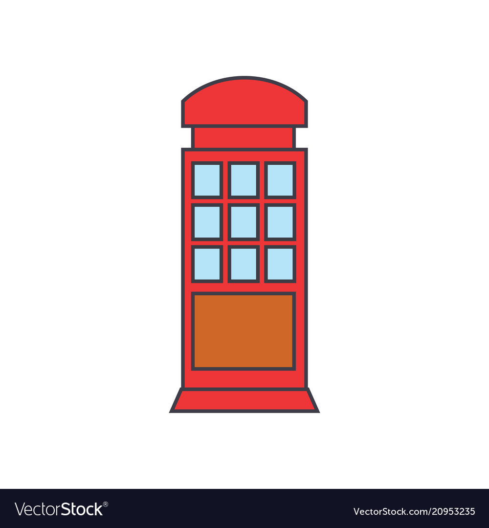Call box line icon concept call box flat