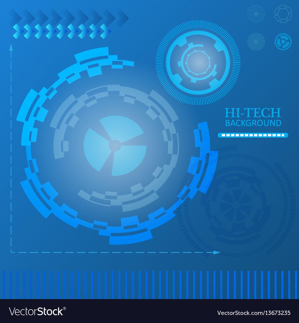 Sci-fi futuristic user interface abstract