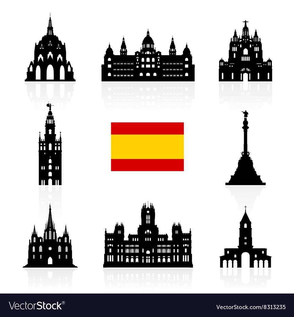 Spain Travel Landmarks Symbol
