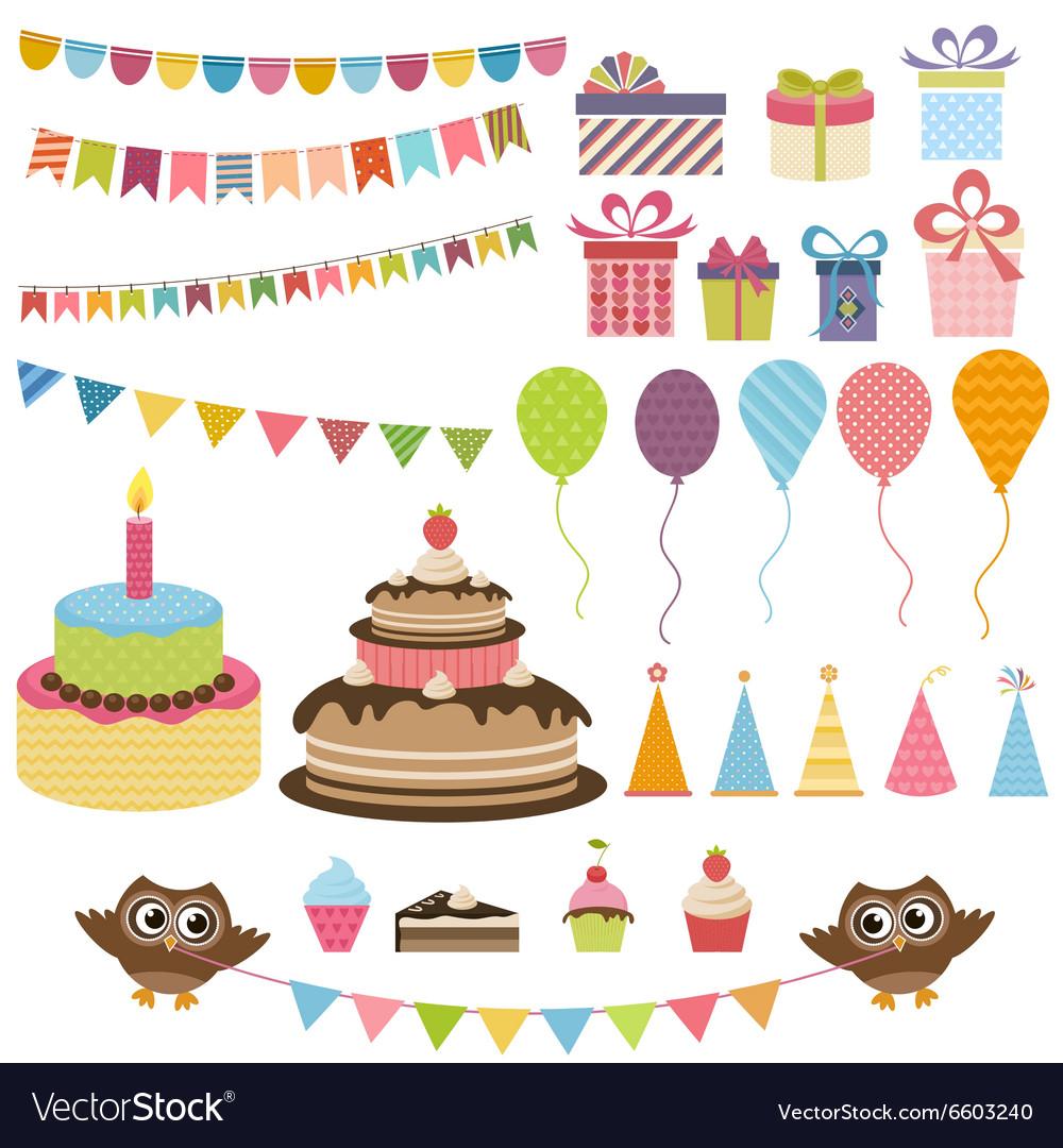 Birthday party elements set
