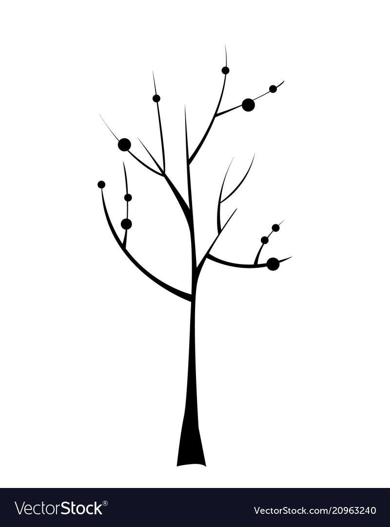Black tree icon doodle
