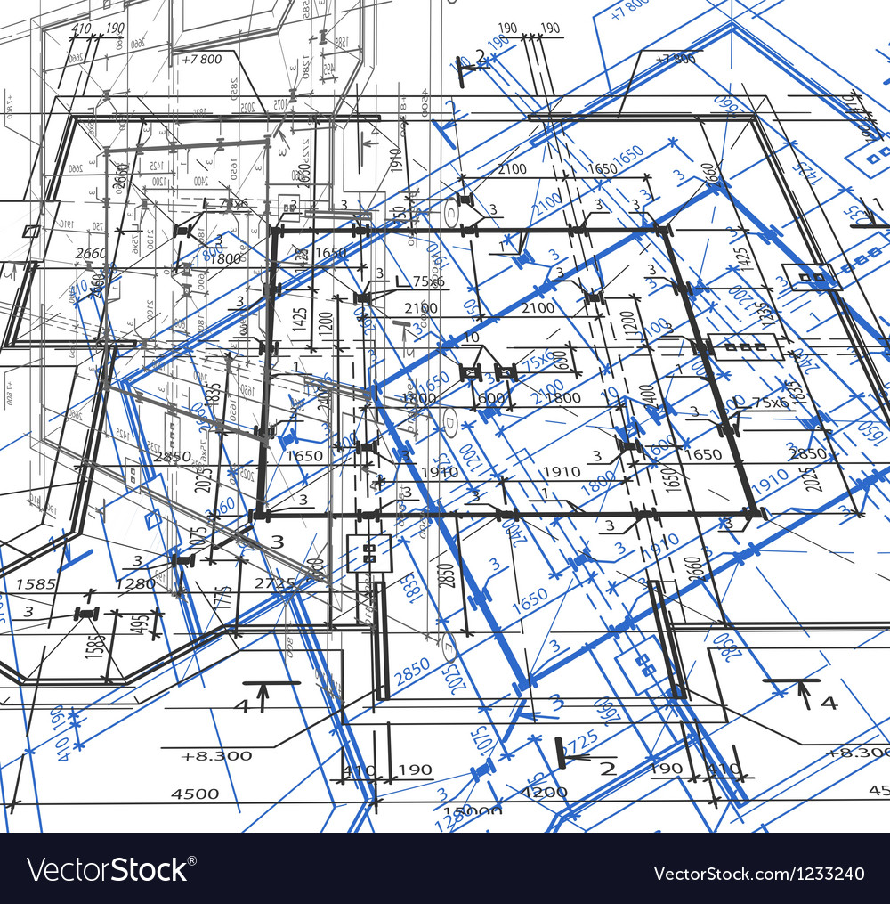 Blueprint abstract background