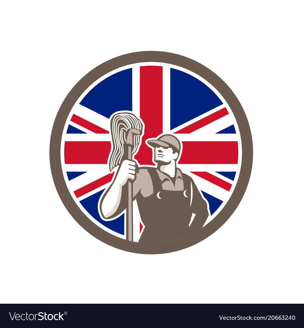 British industrial cleaner union jack flag icon