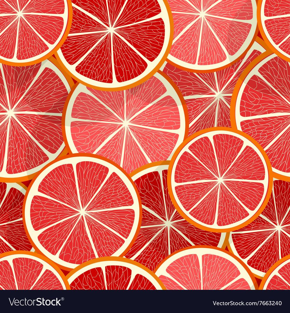 Citrus seamless pattern Grapefruit