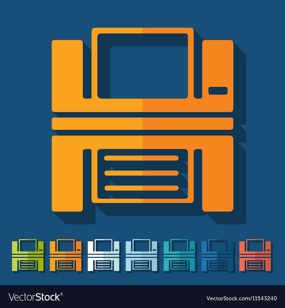 Flat design printer