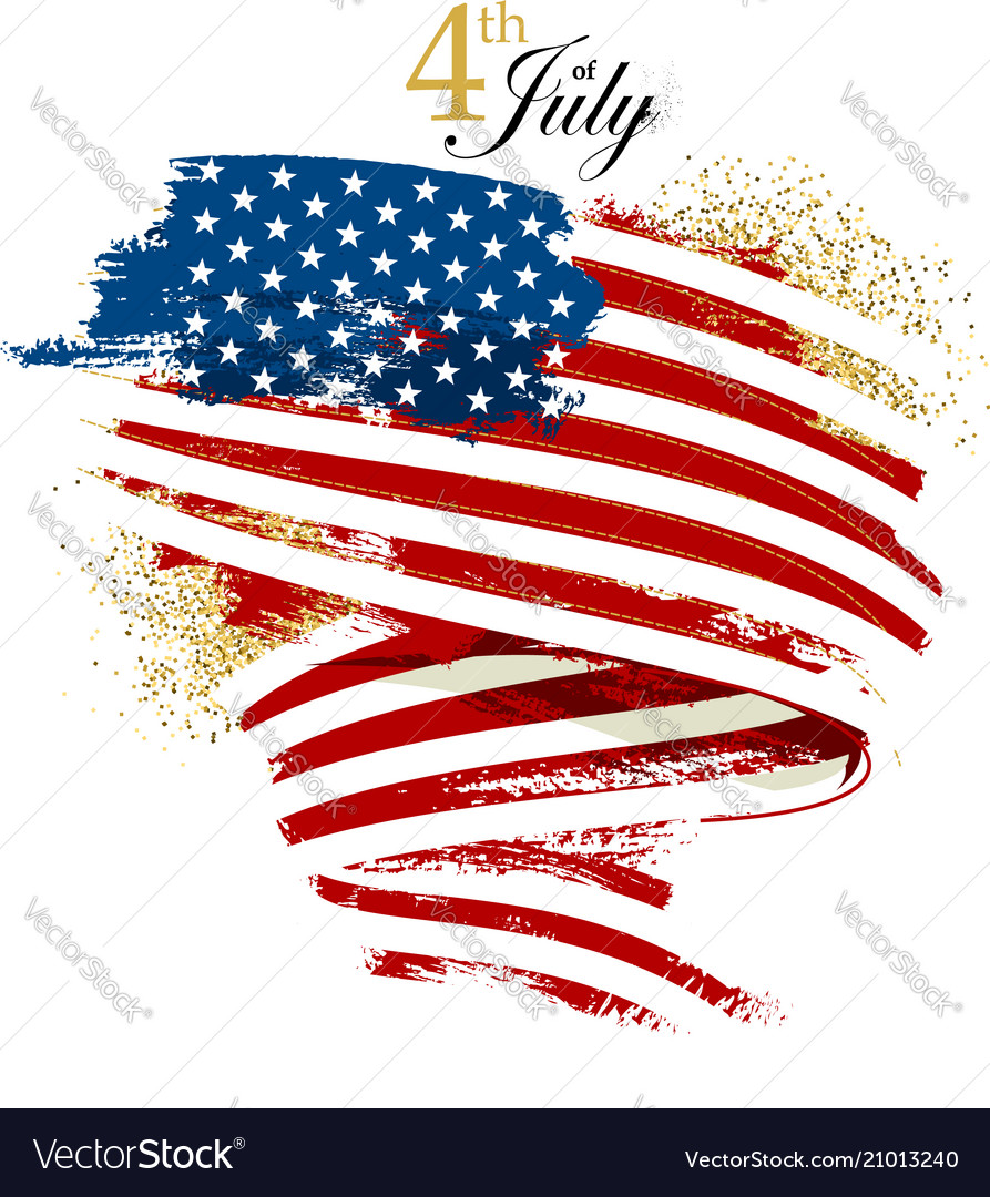 Independence day waving flag vector image