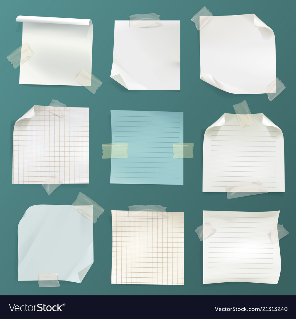 Note papers set - lined checkered pages