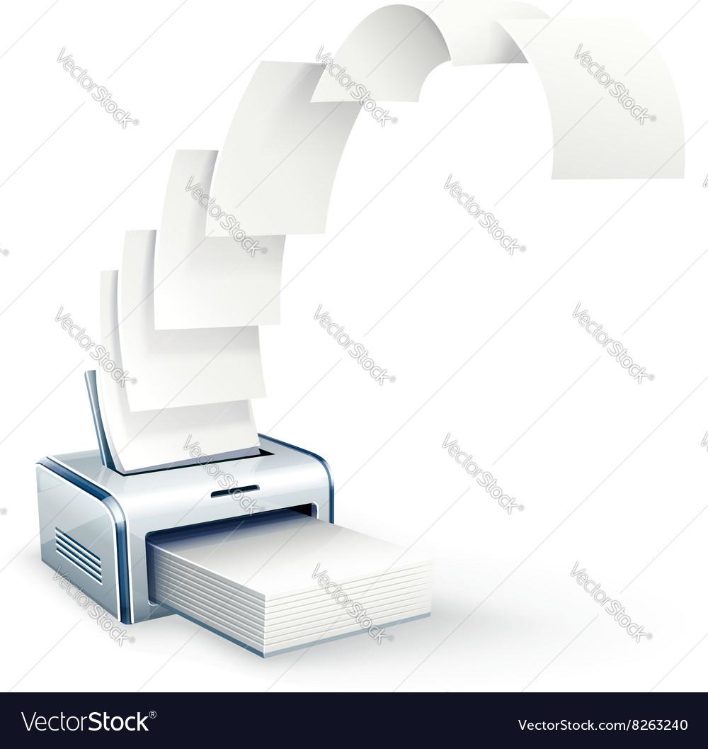 Printer printing copies to white