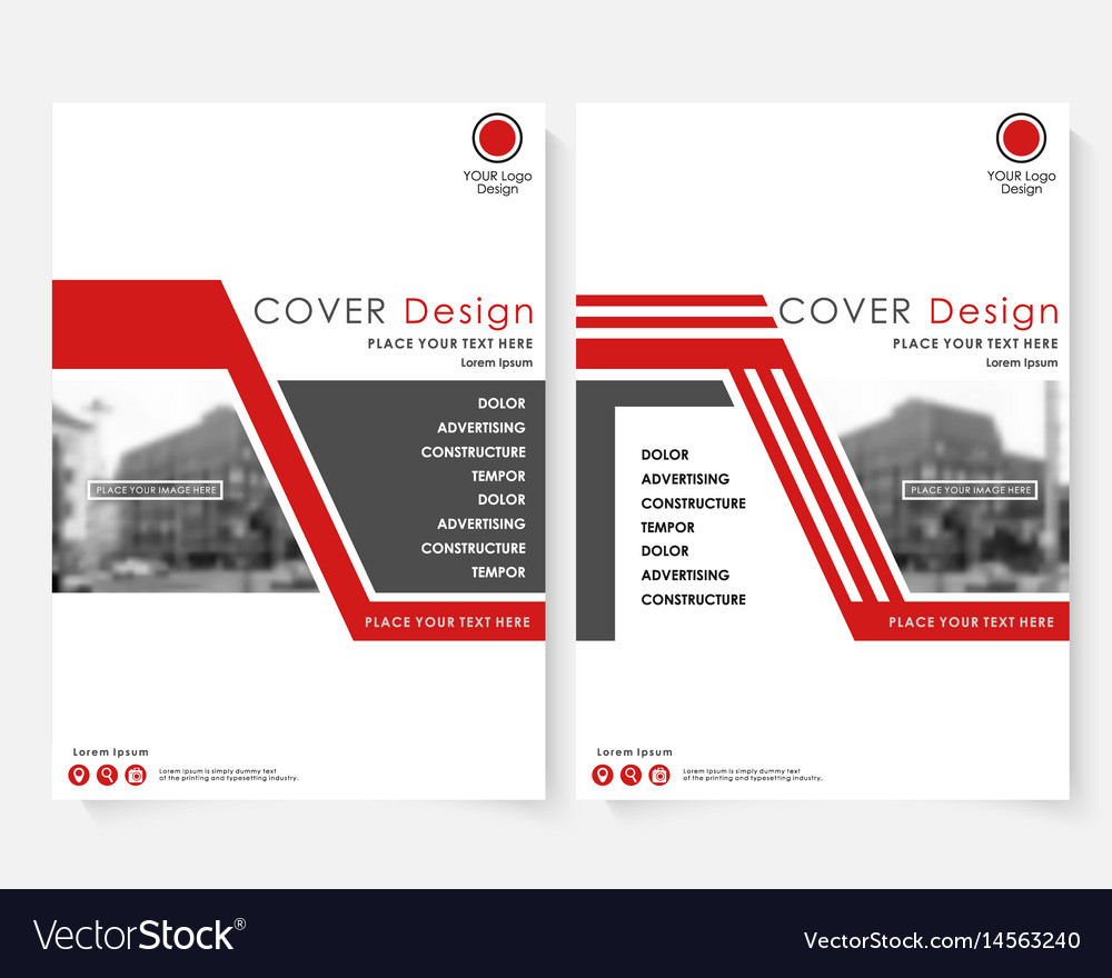 Red cover design template for annual report vector image maxwellsz