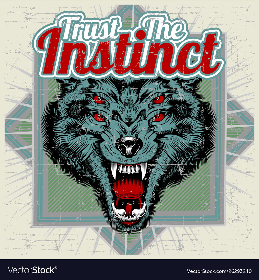 Wolf and letter trust instinct hand