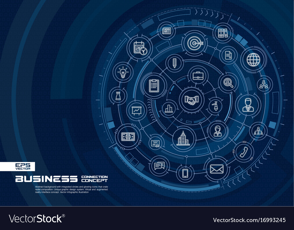 Abstract business strategy background digital