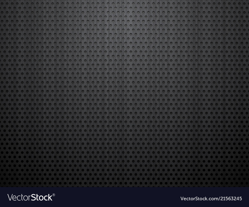 Black brushed perforated steel background