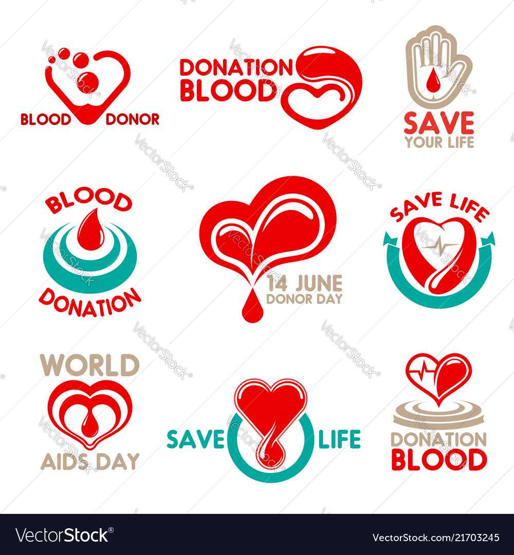 Blood donation icons for transfusion laboratory
