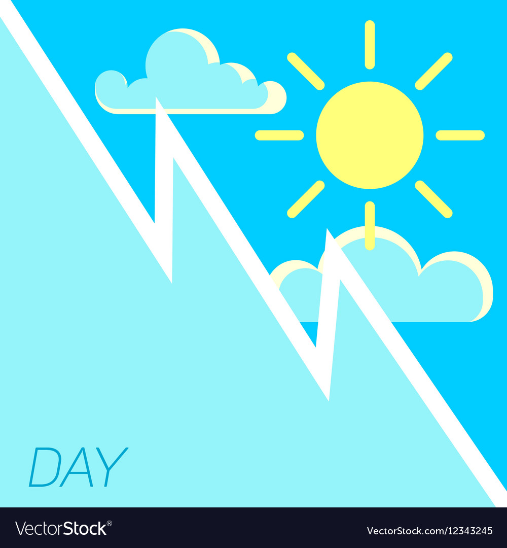 Blue sky and sun day concept