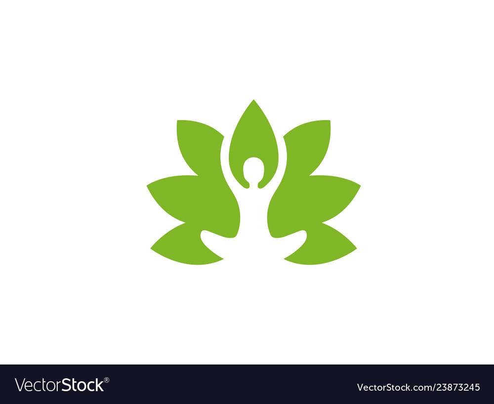 Creative body leaf logo