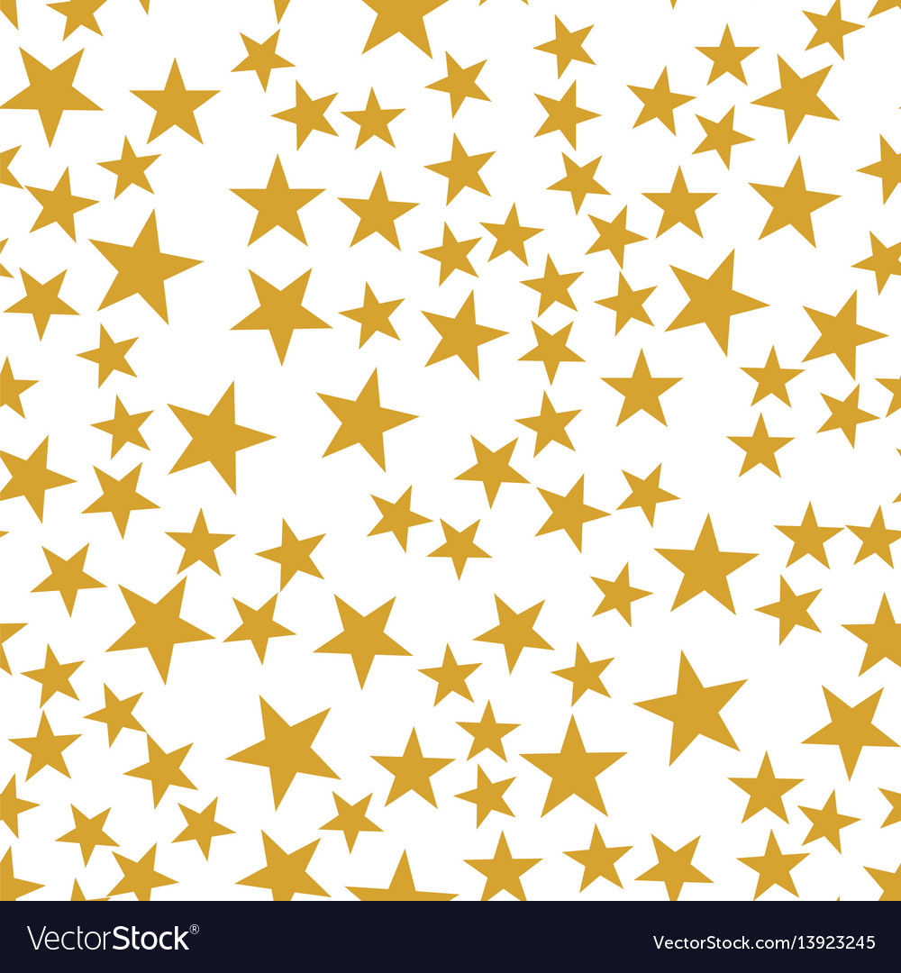 Golden stars seamless pattern