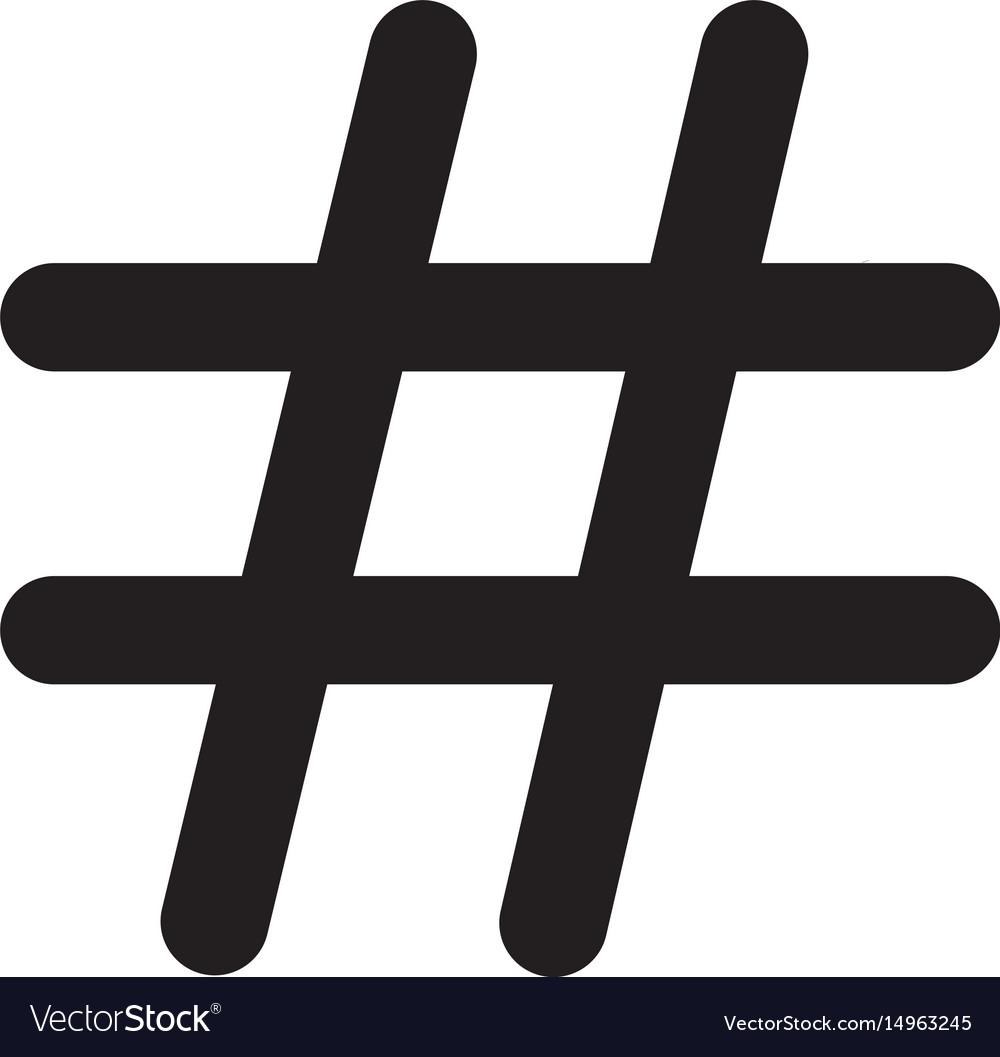 Hashtags icon on white background hashtags icon