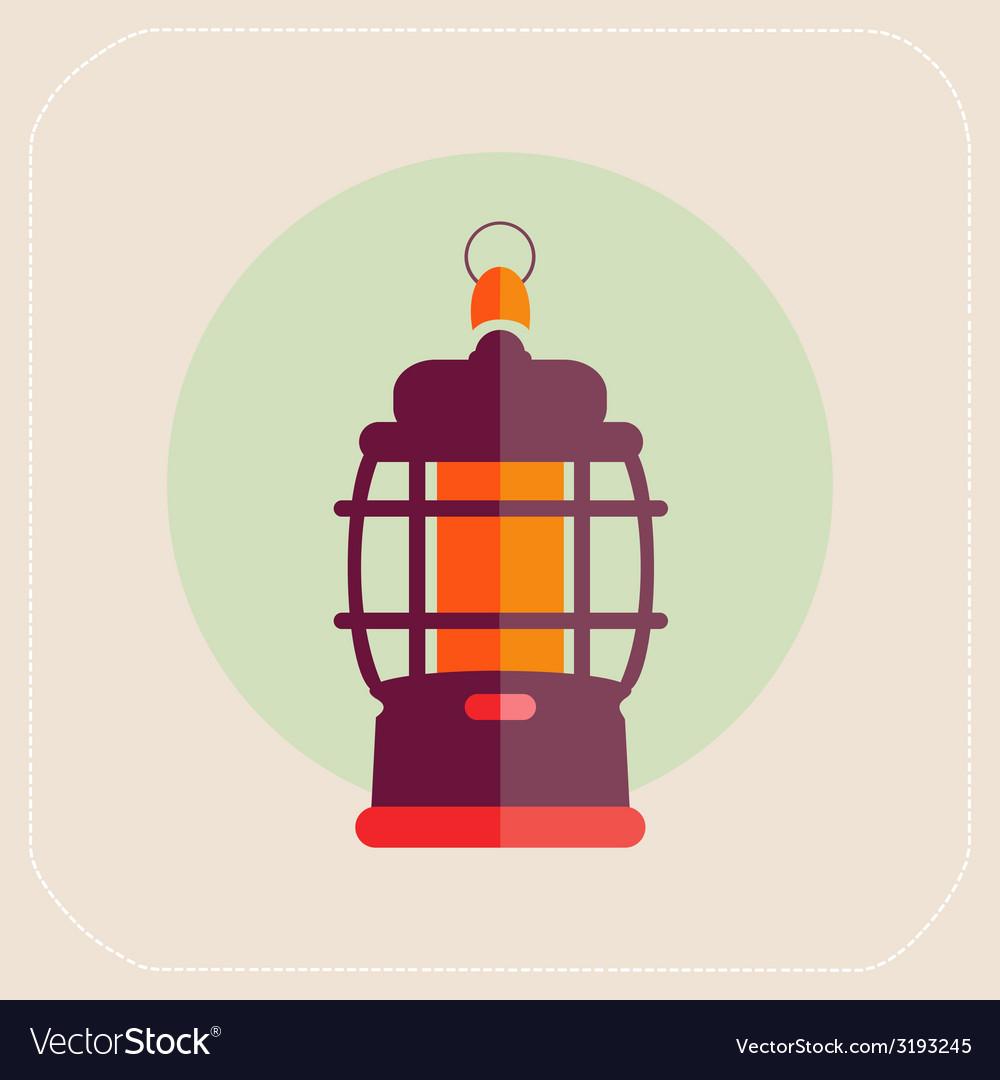 Kerosene lamp icon flat