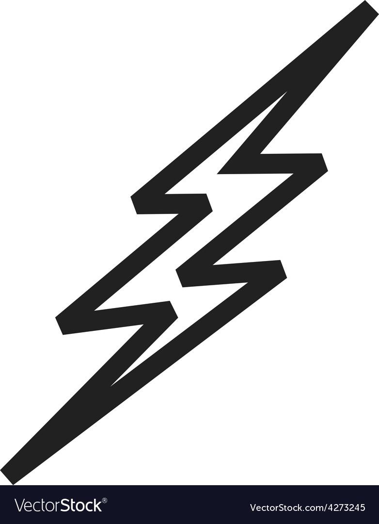 Lightning bolt Royalty Free Vector Image - VectorStock for Vector Lighting Bolt  45hul