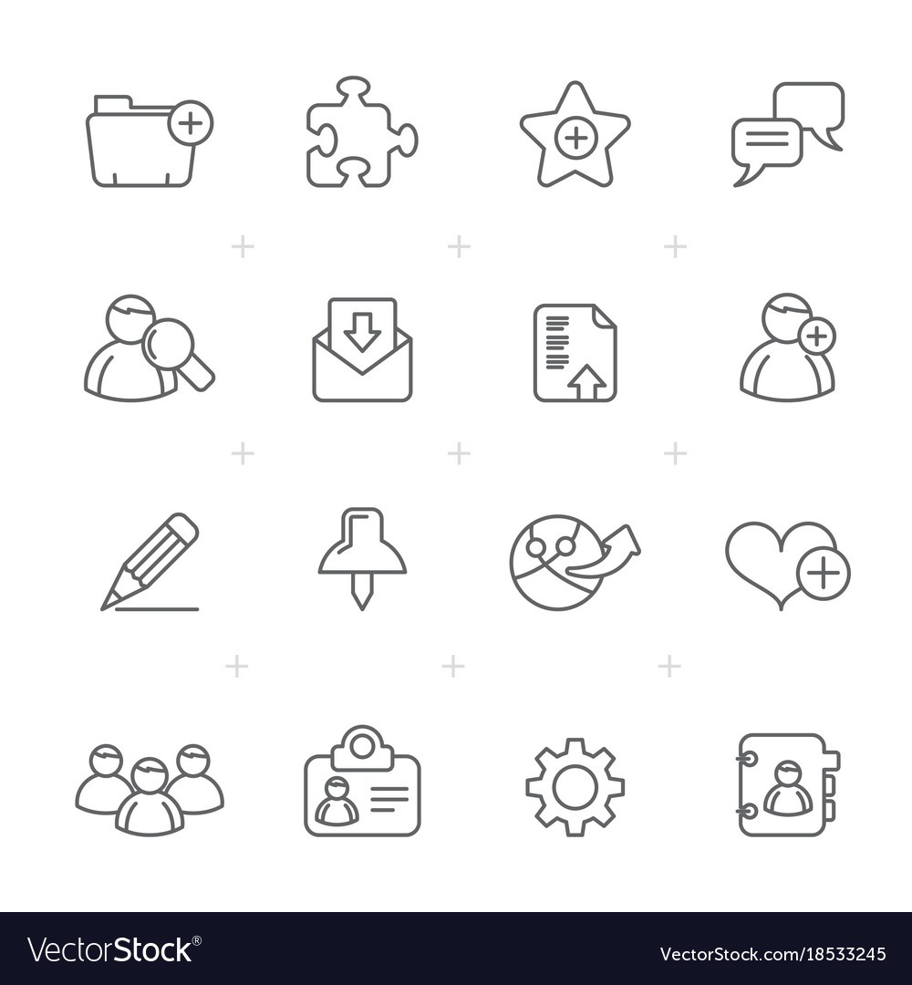 Line blog and internet icons vector image