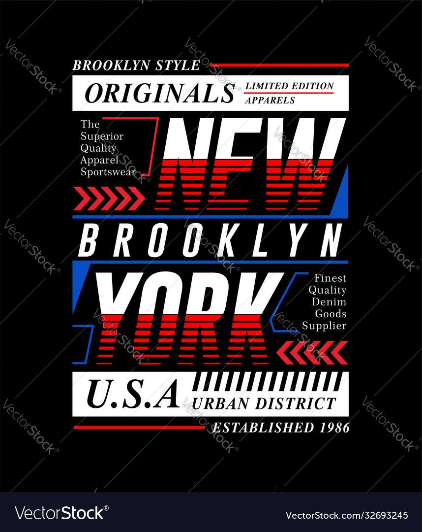 New york city slogan tee graphic typography