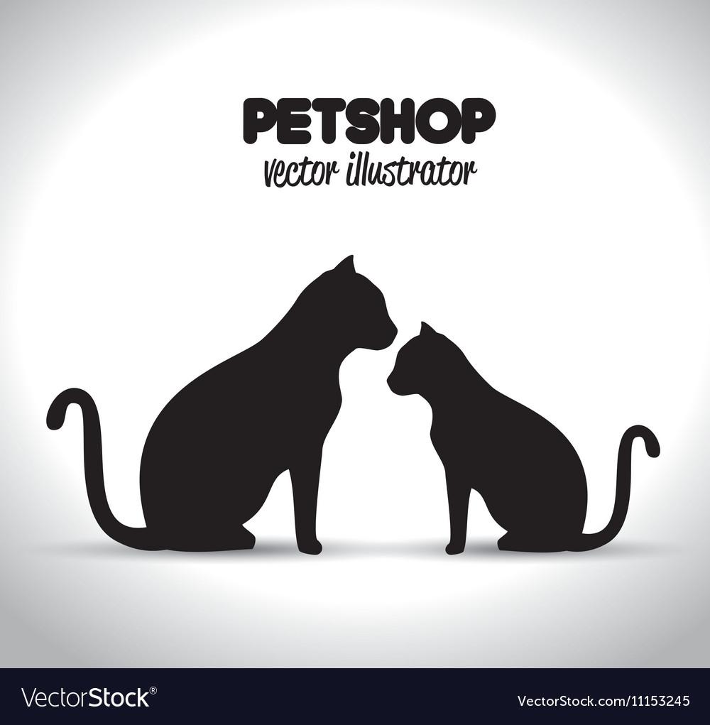 Pet shop veterinary emblem graphic
