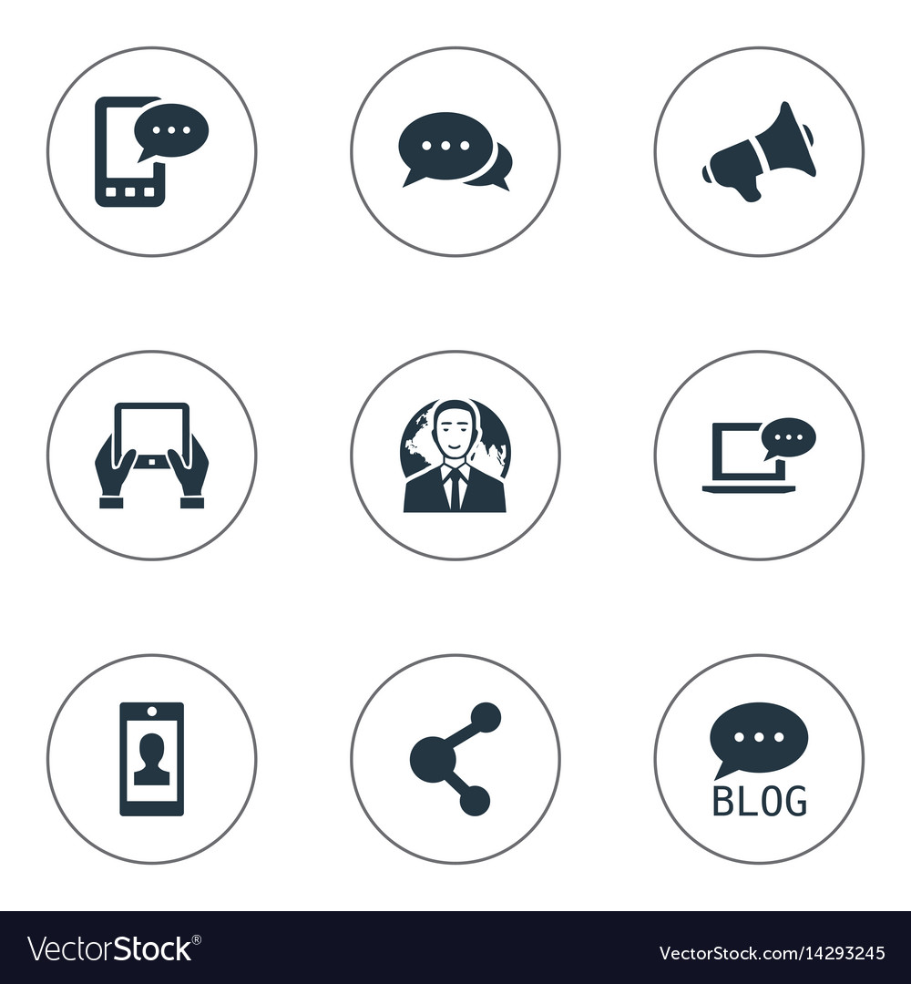 Set of simple blogging icons
