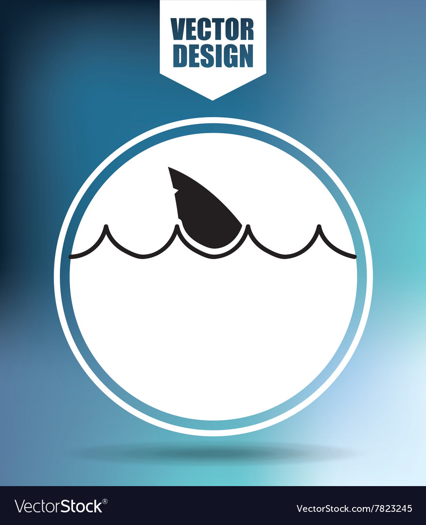 Shark icon design
