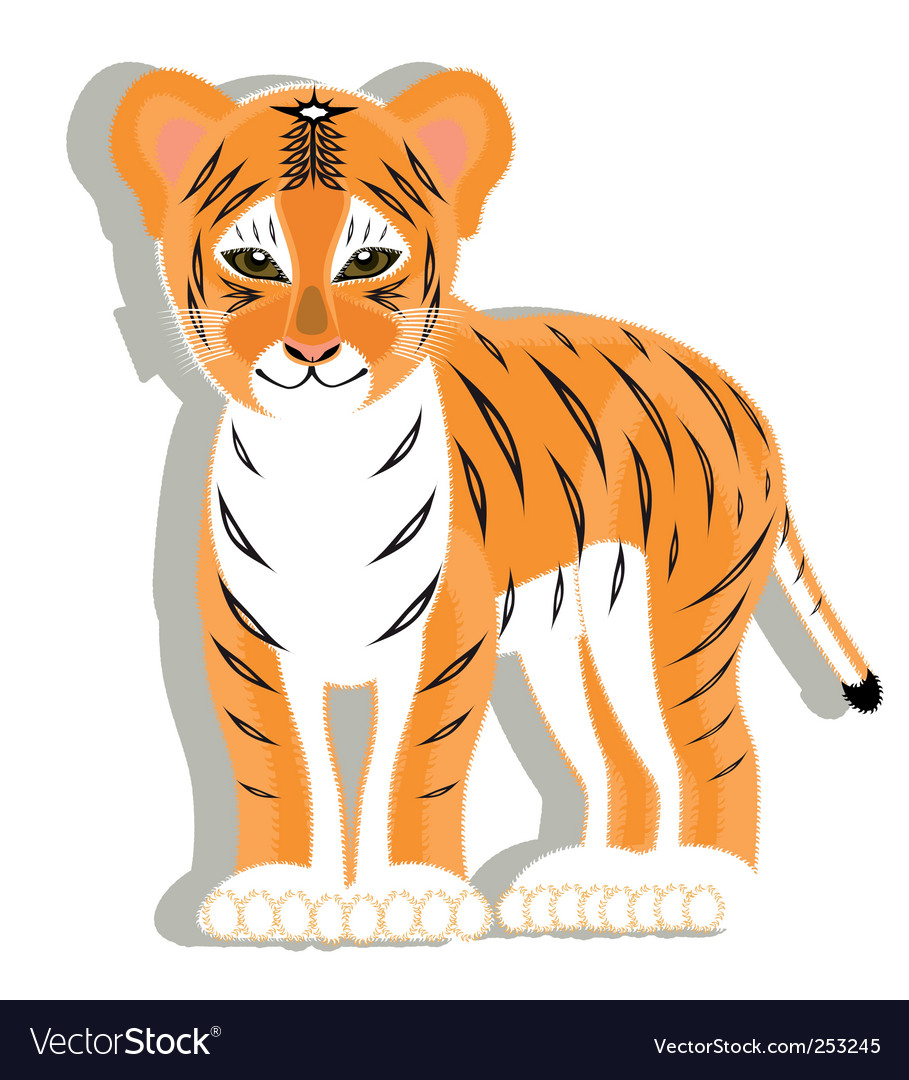 Small tiger vector image