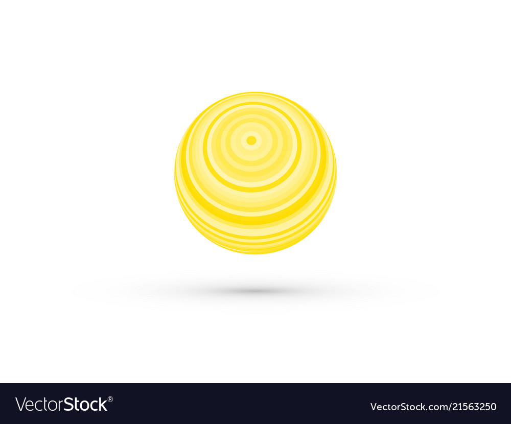 Abstract yellow striped ball
