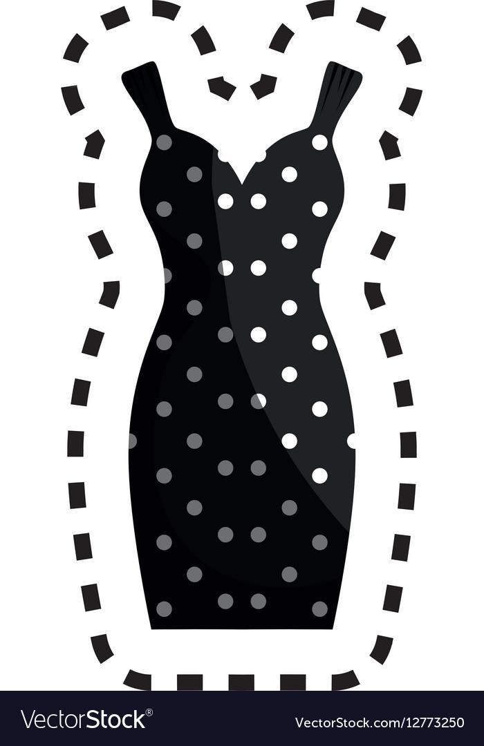 Female clothes silhouette icon