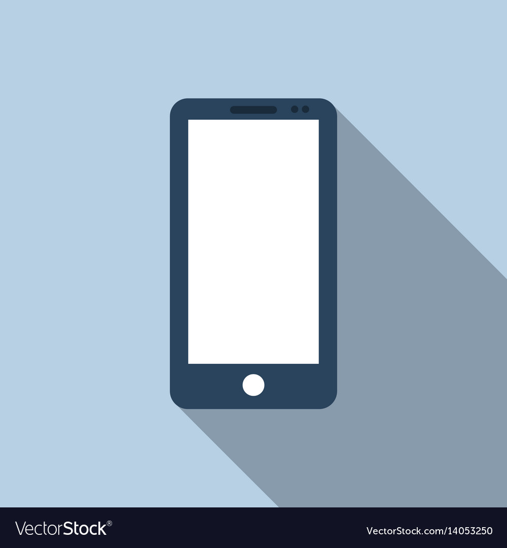 Mobile phone icon in flat style vector image