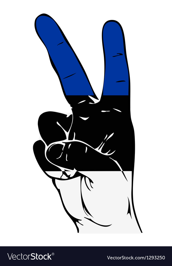 Peace Sign of the Estonian flag vector image