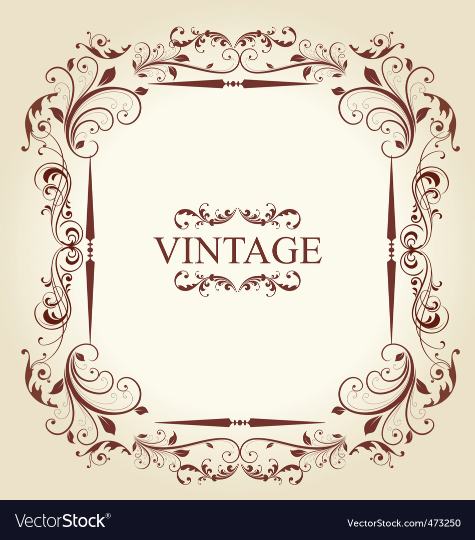 Vintage frame vector image