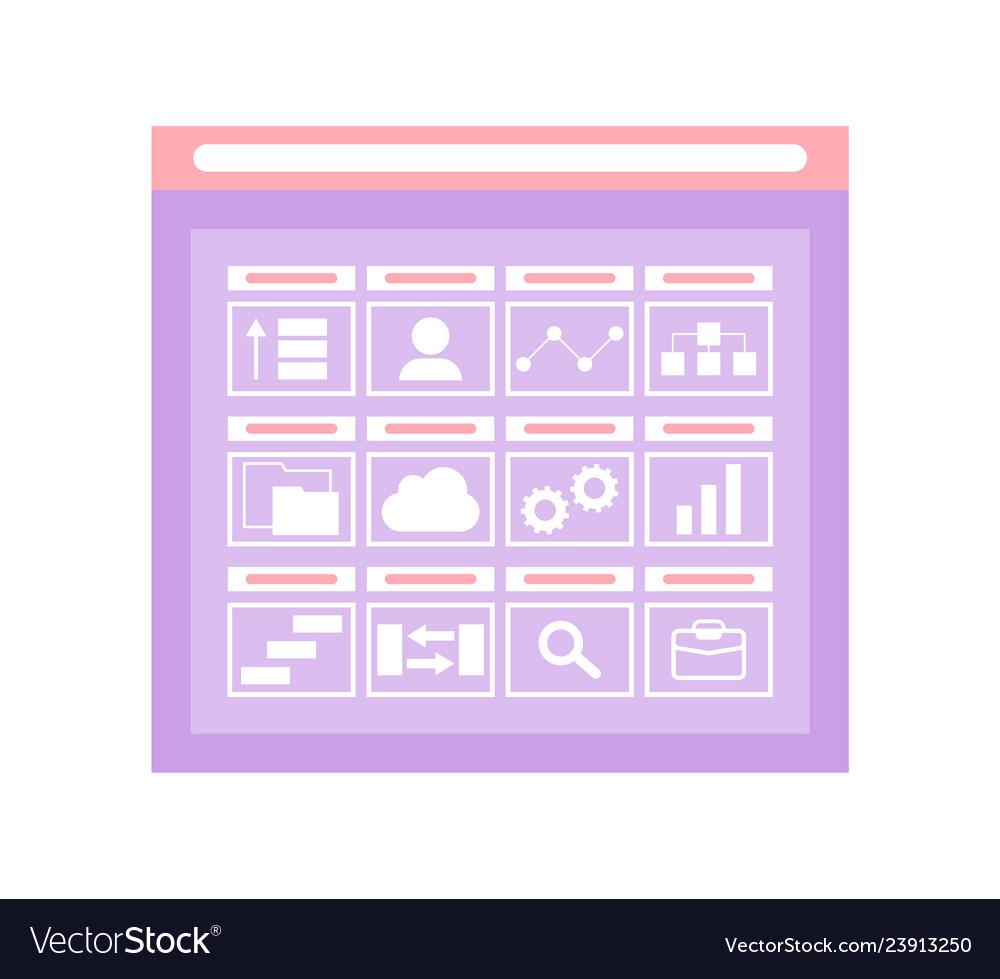 Web folder interface of opening storage