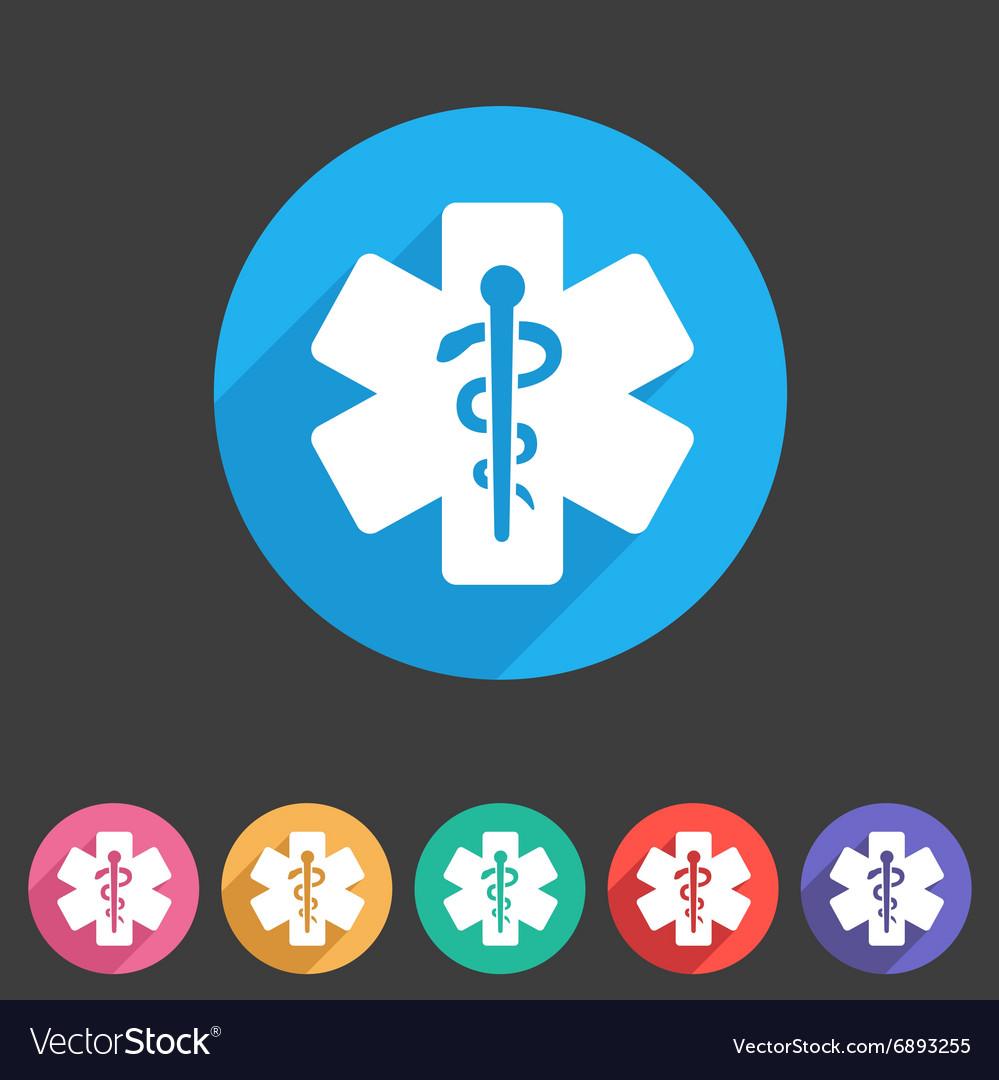 Blue medical icon flat web sign symbol logo label vector image