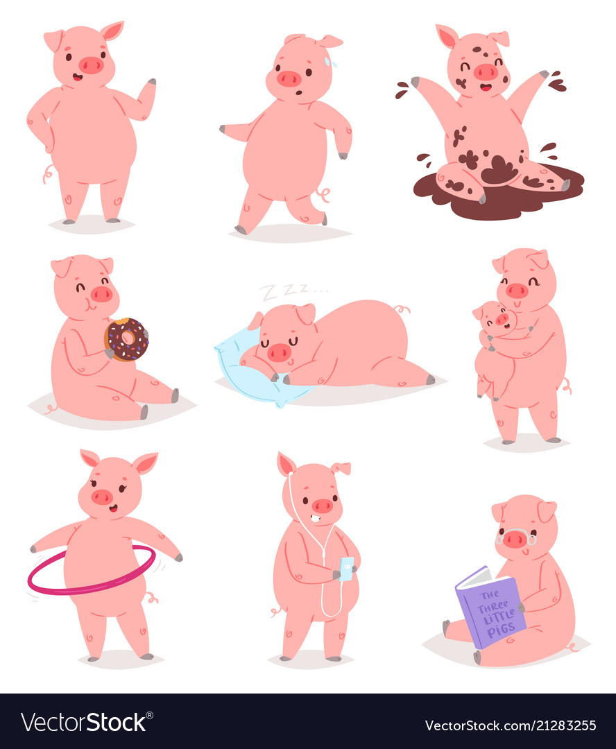 Pig & Reading Vector Images (41)