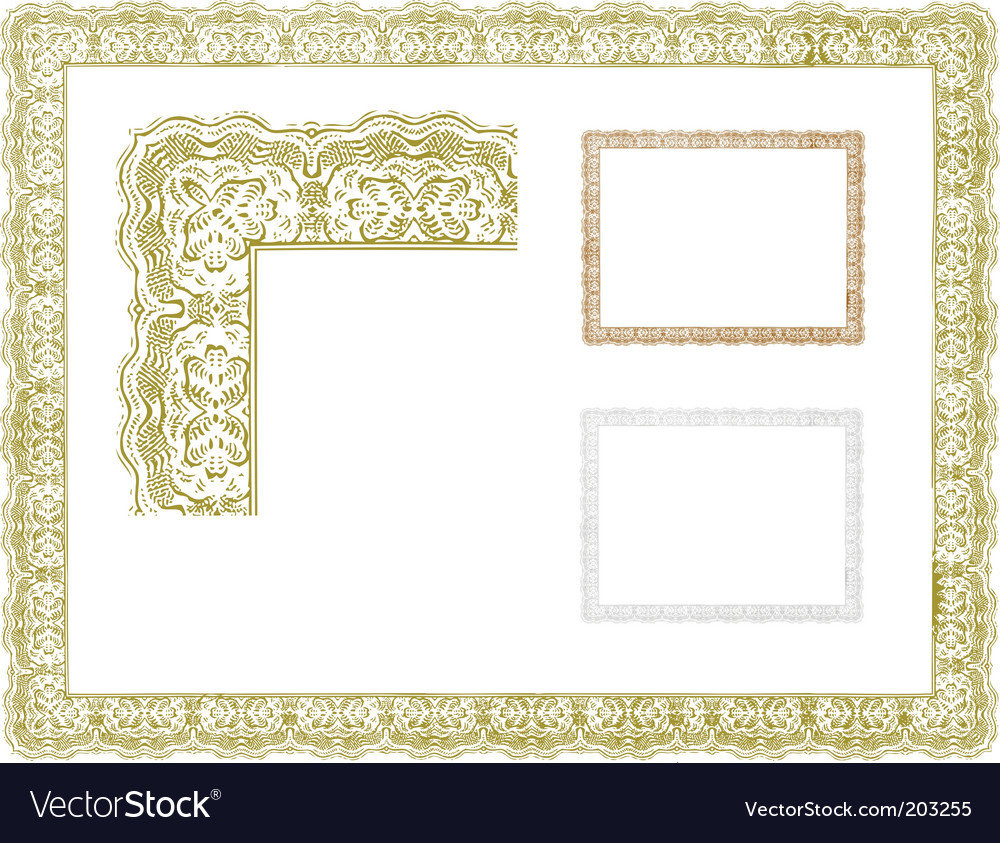 Certificate borders royalty free vector image vectorstock certificate borders vector image yadclub Images