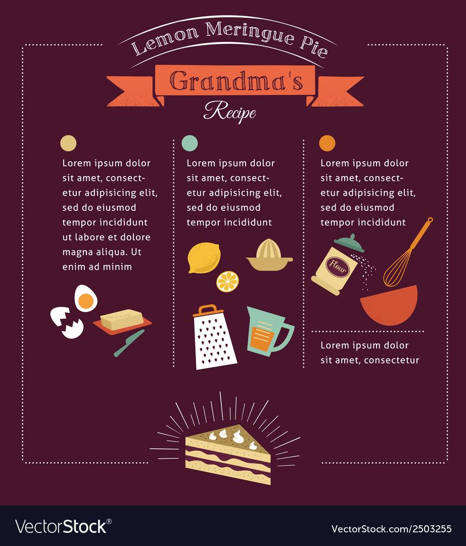 Chalkboard meal recipe template design vector image