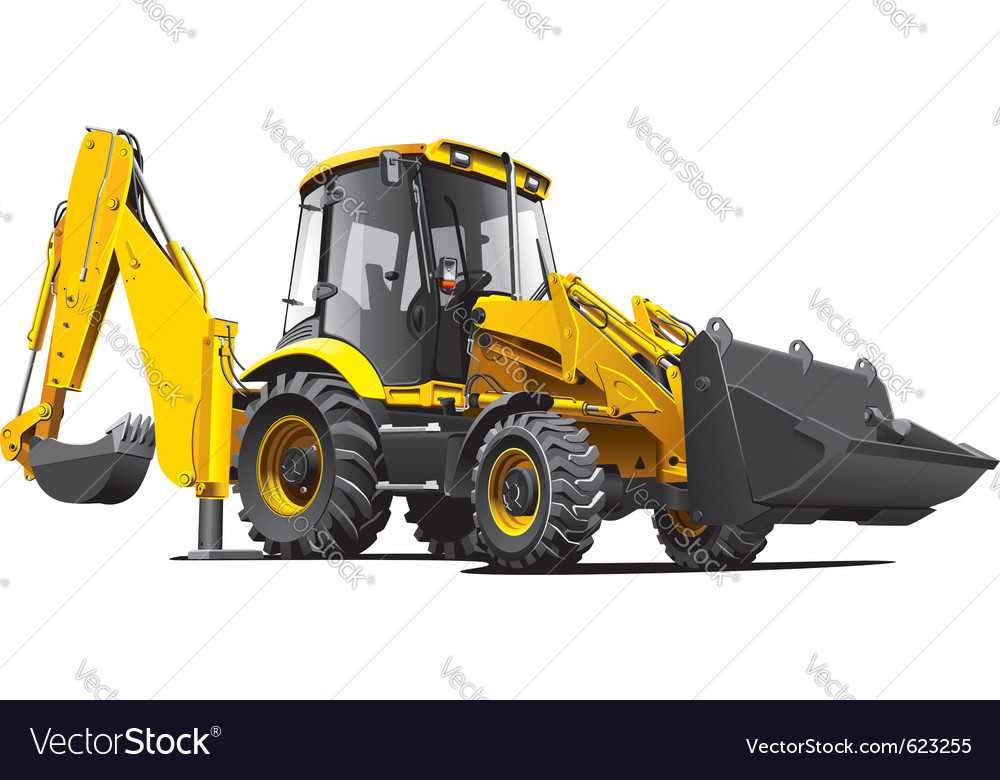 Detailed image of yellow backfiller isolated o vector image