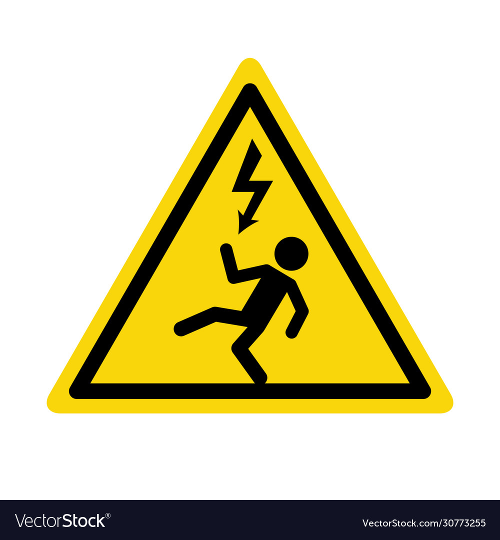 Electric high voltage danger haard icon electric