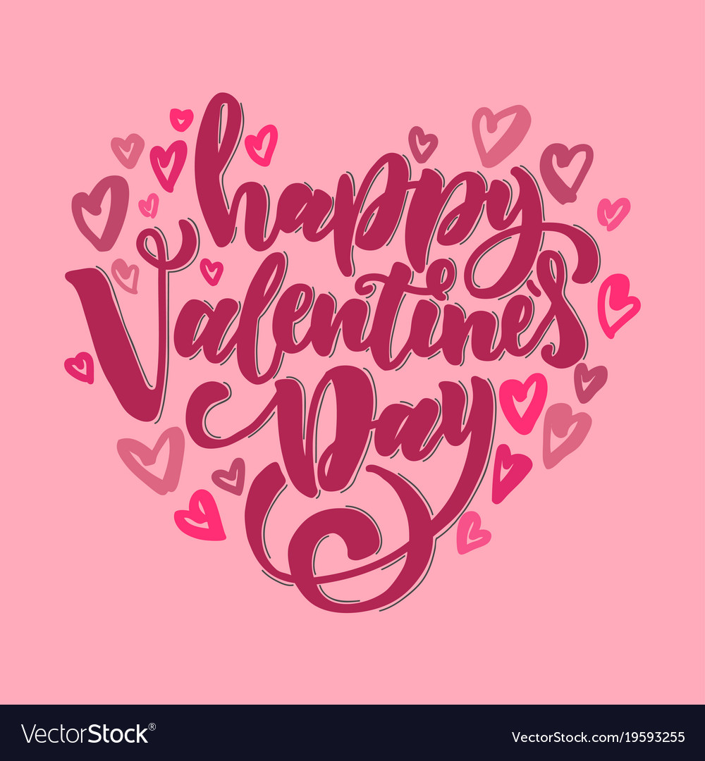 Happy valentine s day design for holiday greeting